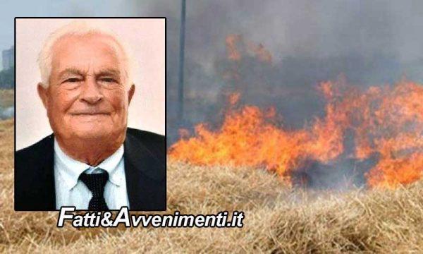 Naro (AG). Si sente male mentre brucia le sterpaglie: 83enne muore carbonizzato
