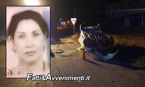 Scicli (RG). Perde il controllo dell'auto e si ribalta: muore donna di 53 anni. Inutili i soccorsi