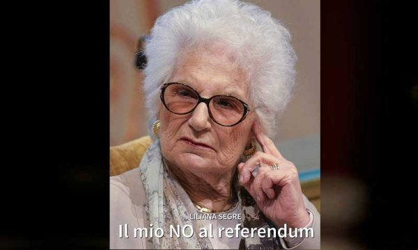 Referendum taglio parlamentari: Liliana Segre vota no e ne spiega i motivi in 10 punti
