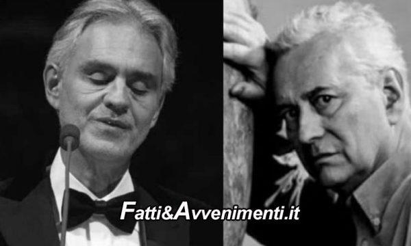 Noto (SR). Sabato 24 ottobre Andrea Bocelli in concerto con  Mitoraj per promuovere i siti Unesco siciliani