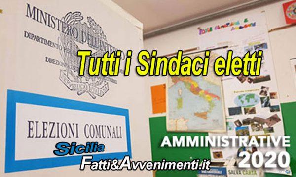 Amministrative Sicilia. Ecco tutti i sindaci eletti al primo turno. Al ballottaggio Agrigento, Carini e Augusta