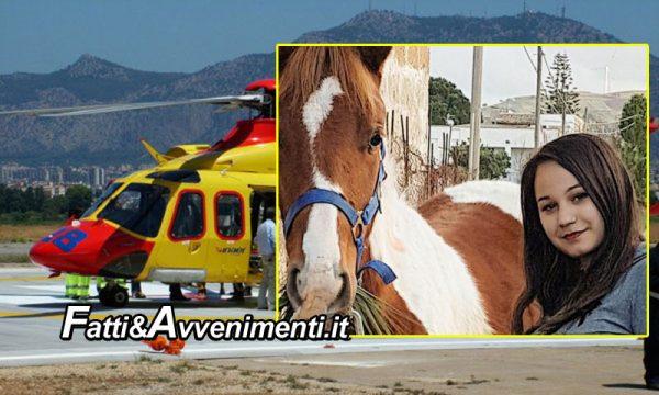 Partinico. Ragazza 21enne cade da cavallo: trasportata in elisoccorso, muore in ospedale
