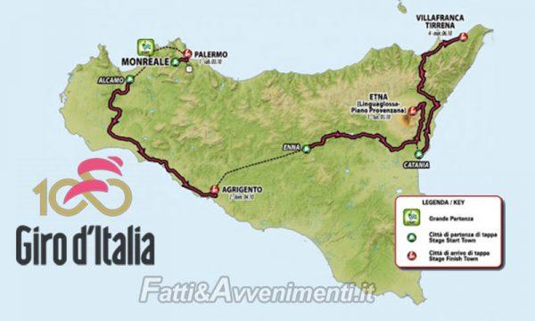 Sciacca. Giro d'Italia, domenica 4 ottobre strade chiuse e cambia la viabilità: ecco i dettagli e gli orari