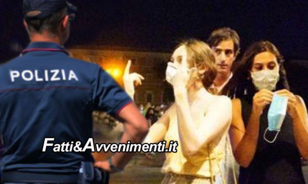 Caltanissetta. Nuovo Dpcm: 15 persone multate da 400 a 1000 euro perché trovate in giro senza mascherina