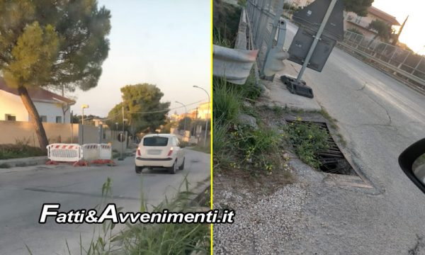 """Sciacca. Lavori in Via Moro, CentroDestra: """"Inutile senza interventi a rete idrica, si ascoltino residenti"""""""