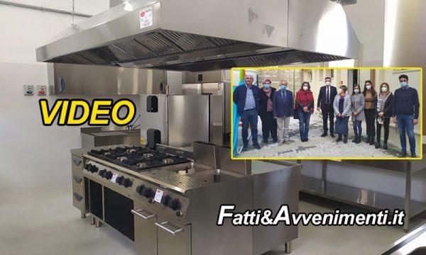 """Caltabellotta. Inaugurata la """"cucina comunale"""" sarà utilizzata come servizio di refezione scolastica"""
