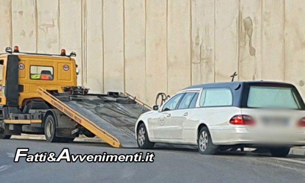 Sciacca. Carro funebre senza assicurazione sulla SS640:  sequestrato e multa al conducente
