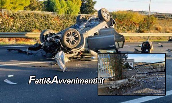 Canicattì. Si schianta con l'auto su un pilastro di cemento: muore un 26enne. Lascia moglie e due figlioletti