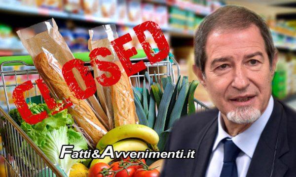 Sicilia. Covid, Musumeci firma ordinanza e richiude i negozi la domenica: aperti solo farmacie, tabacchi e edicole