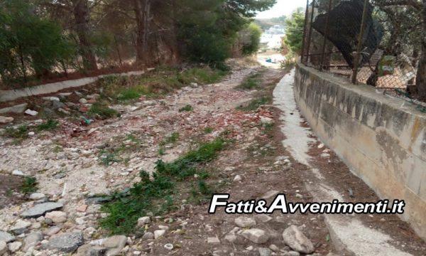 """Sciacca. Via del Pellegrinaggio inghiottita da fango e detriti dopo pioggia, Monte: """"Intervenire"""""""