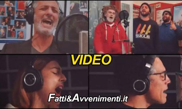 """""""Viene Natale"""" 30 artisti siciliani tra cui  Fiorello, Carmen Consoli e Mario Biondi uniti contro il covid – VIDEO"""