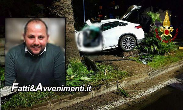 Catania. Mercedes si schianta contro una palma: perde la vita un 39enne, gravemente ferito il passeggero