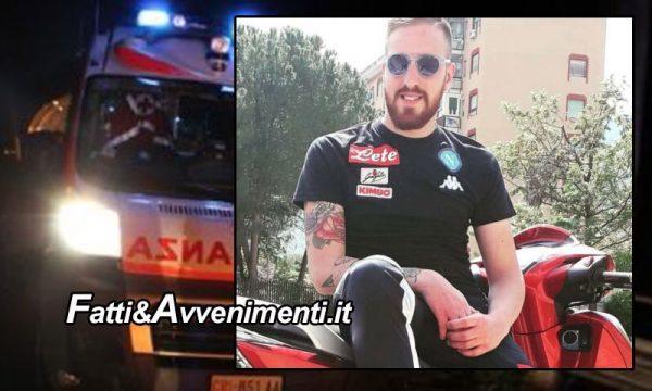 """Palermo. Tragico incidente in scooter """"per schivare un animale"""": 25enne muore in ospedale"""