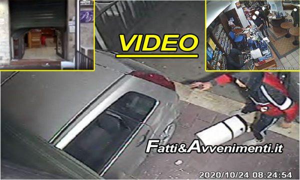 Caltanissetta. Con l'auto sfondano saracinesca e rapinano bar: 3 arresti, 2 sono 15enni