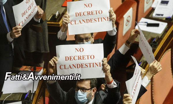 Migranti. Aboliti i decreti Salvini, il Senato approva il Dl sicurezza della Lamorgese: il M5s si inginocchia al PD