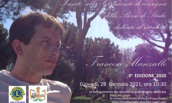 Ribera. Per il terzo anno il Lions Club assegna la Borsa di Studio dedicata al ricordo di Francesco Manzullo