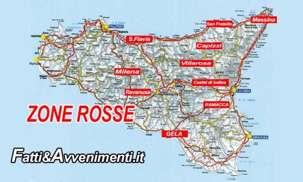 """Covid, anche Gela (CL) e Villarosa (EN) """"zone rosse"""" e in Sicilia i Comuni """"chiusi sono già 10"""