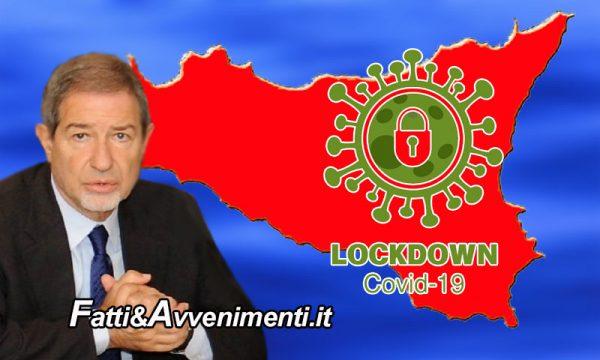 """Covid. I contagi non scendono e Musumeci è preoccupato: """"Non escludo lockdown come a primavera"""""""