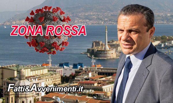 """Messina. Covid: Sindaco De Luca e Asp chiedono a Musumeci l'stituzione della """"Zona Rossa"""" fino al 31 gennaio"""
