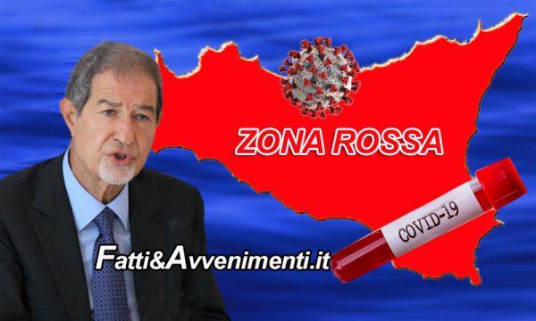 """Covid. Musumeci firma ordinanza: da domani """"zona rossa""""  fino al 31 gennaio, ma aperte scuole infanzia e primaria"""