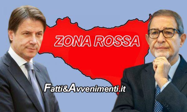 """Covid. Da domenica Sicilia in """"Zona Rossa"""", Conte firma Dpcm fino al 5 marzo e accontenta Musumeci"""