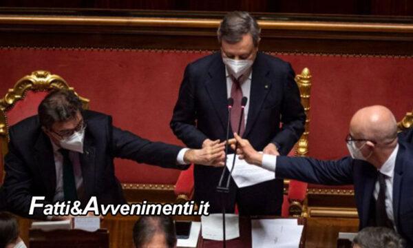 Governo Draghi ottiene un'ampia fiducia: 262 sì e 40 no tra cui 15 senatori del M5s. All'opposizione solo la Meloni
