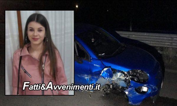Palermo. Si schianta con l'auto contro il guardrail: perde la vita una 16enne