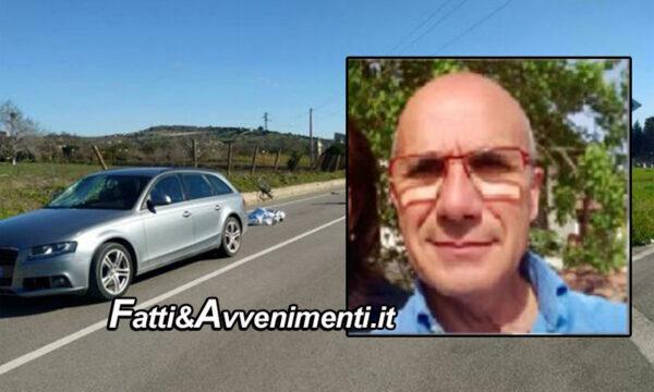 Ravanusa. Auto travolge ciclista: perde la vita un 62enne capo della forestale di Licata