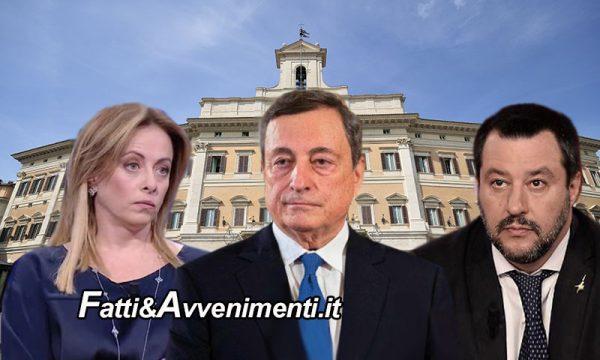 Abolizione Coprifuoco Meloni non passa ma Salvini trova mediazione: verifica tra 15 giorni. Irritazione PD e M5S