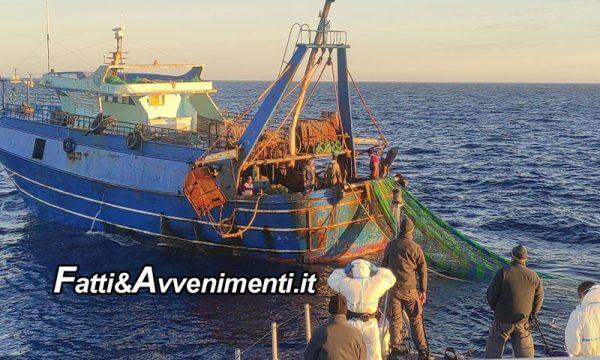 Lampedusa. G.d.F. Sequestra 2 pescherecci egiziani sorpresi a pescare illegalmente nelle acque territoriali italiane