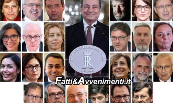 Draghi presenta il suo governo, 3 ministri a Lega, PD e 5S, ci sono Lamorgese e Speranza: ecco la lista completa