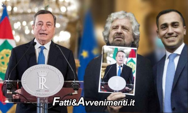 Voto M5S su Rousseau Governo Draghi: vince sì con 59,3%, esulta l'ala governista