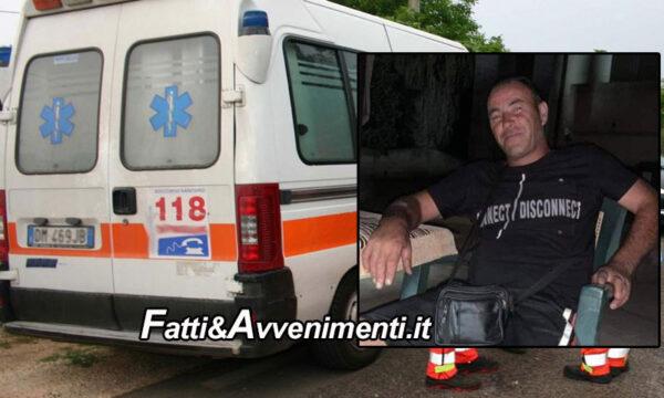 Marsala. Incidente mortale: motociclista 46enne perde la vita dopo lo scontro con un furgone