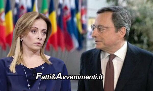 """Governo Draghi, Meloni irremovibile: """"Fdi voterà no, in queste condizioni impossibile fare quel che serve al Paese"""""""