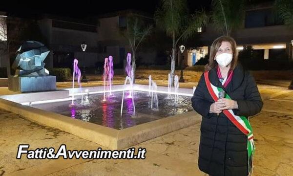 Montevago. Inaugurata dopo il restyling la fontana con la scultura di Giò Pomodoro in piazza della Repubblica