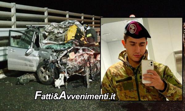 Tragedia sull'A20, 22enne travolto mentre scende dall'auto per dare soccorso, gravemente ferito il fratello