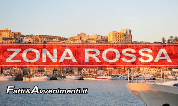 Sciacca ufficialmente ZONA ROSSA da giovedì 18 al 30 marzo: ecco i dettagli