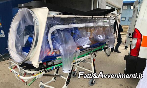 Negli ospedali di Agrigento e Ribera arrivano 2 ambulanze di biocontenimento per pazienti positivi al covid