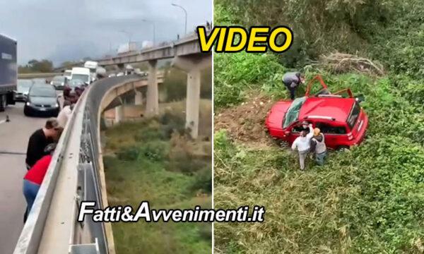 Incidente sulla A19 Pa-Ct: auto precipita da viadotto grave una 32enne che cerca il figlio che però non ha