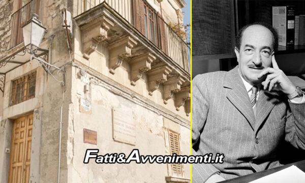 """Modica (Rg). Regione acquista la casa di Salvatore Quasimodo, Musumeci: """"Dovere morale"""""""