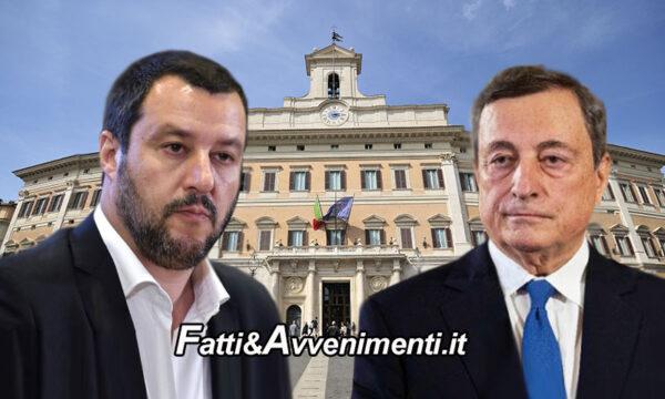 Decreto-riaperture, è scontro tra Salvini e Draghi: la lega non lo vota, ma il premier tira dritto e conferma le 22