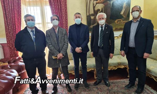 Agrigento. incontro al Comune tra il Sindaco Miccichè e il presidente nazionale giornalisti Fijet Glaviano