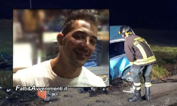 Carlentini (SR). Terribile scontro tra 3 auto: un 35enne perde la vita. Aperta inchiesta per omicidio stradale