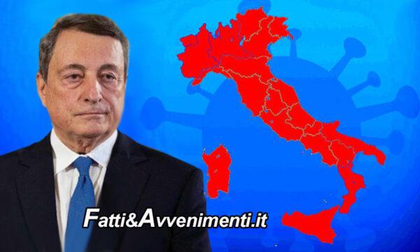 Covid. Draghi firma Dpcm: Tutta l'Italia rossa a Pasqua dal 3 al 5 aprile. Da lunedì 15 Zone gialle diventano arancioni