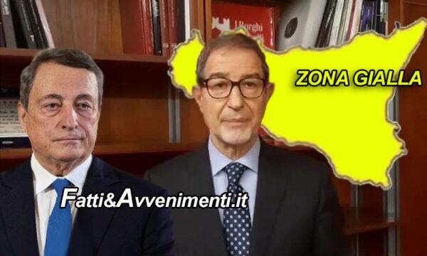 Covid. Nuovo DPCM di Draghi: Sicilia resta gialla e Musumeci firma proroga valida dal 5 marzo per gli arrivi