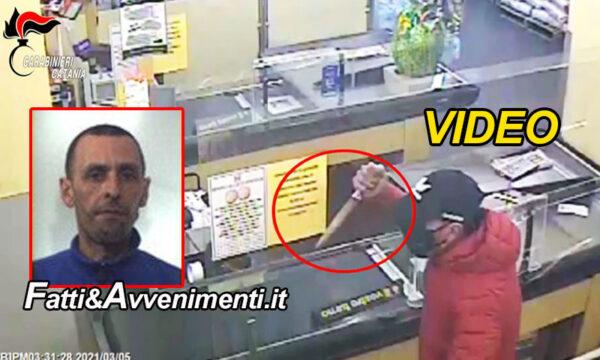 Paternò (CT). Rapina supermercato armato di coltello poi incastrato dal video si costituisce