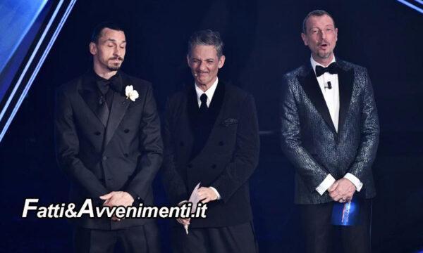 Mezzo flop per la 1° serata del Festival di Sanremo: applausi e risate finte senza pubblico non sono piaciuti