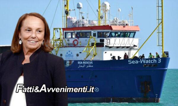 Lamorgese assegna alla Sea Watch 3 il porto di Augusta per sbarcare i 363 migranti a bordo presi davanti la Libia