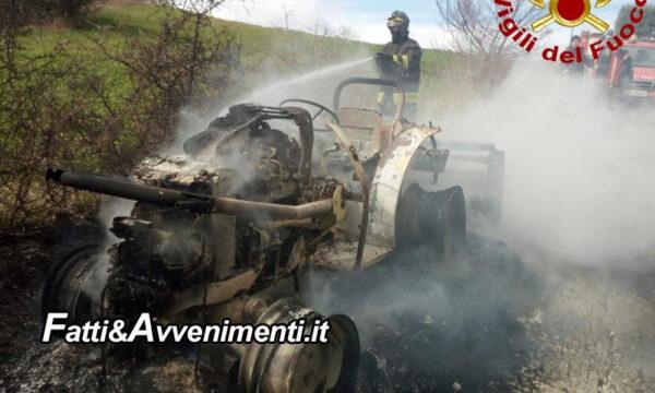 Bivona (AG).  Mezzo agricolo dato alle fiamme: indagano i carabinieri