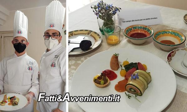 """Sciacca. Gabriele La Bella, allievo dell' Amato Vetrano è 2° al Concorso Regionale """"Sosteniamo in Cucina"""""""